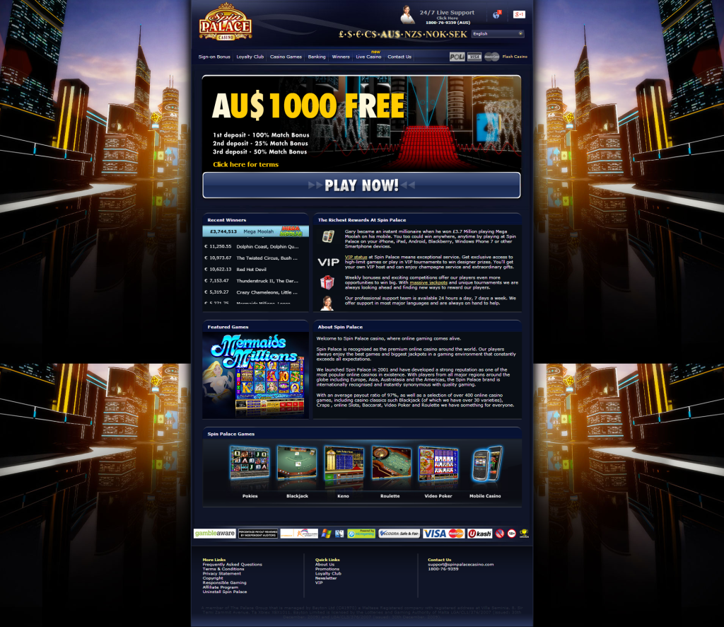 spin palace casino online australia